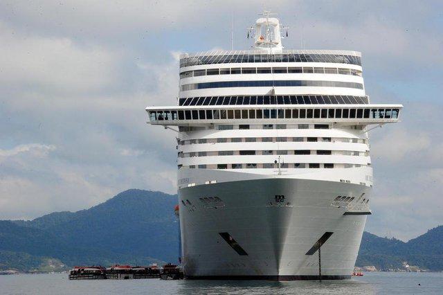 Porto Belo - Br SC - transatlântico Preziosa atracado em Porto BeloIndexador: DANIEL CONZI