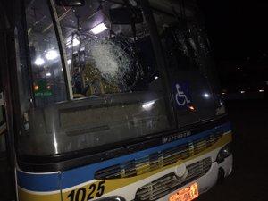Ônibus apedrejado no bairro Restinga (Divulgação/ATP / Divulgação)