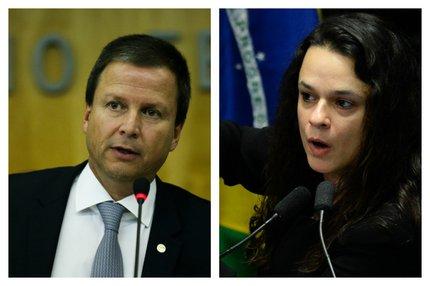 (Agência Brasil e AFP/Montagem sobre fotos de Elza Fiúza e Andressa Anholete / Agência Brasil e AFP)