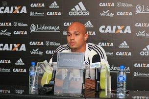 Nicolas Careca foi apresentado nesta quinta-feira no Orlando Scarpelli (Figueirense/divulgação/Luiz Henrique)