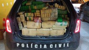 Droga estava sendo trazida do Paraguai (Divulgação/Polícia Civil / Divulgação)