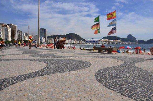 RIO DE JANEIRO, RJ (7/1/2011): Calçadão de Copacabana.Foto: Alexandre Macieira, Riotur, Divulgação