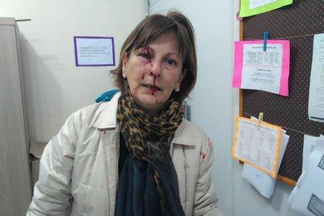 Professora de Língua Portuguesa, Marcia Friggi foi agredida com socos por aluno de 15 anos na manhã desta segunda (facebook/arquivo pessoal)