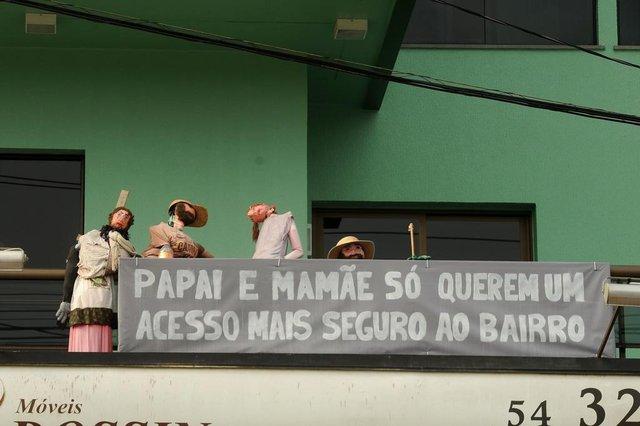 CAXIAS DO SUL, RS, BRASIL, 13/09/2017. Trecho da ERS-122, na entrada do bairro Forqueta (km 65), deve passar por obras nos próximos meses.. (Diogo Sallaberry/Agência RBS)