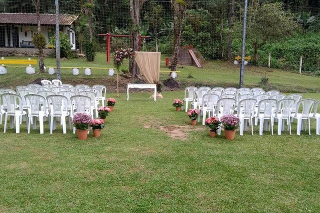 casamento ao ar livre  Sitio vó Bia