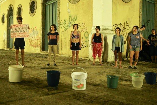FLORIANÓPOLIS, SC, BRASIL, 22-09-2017:  Protesto contra a cura Gay.