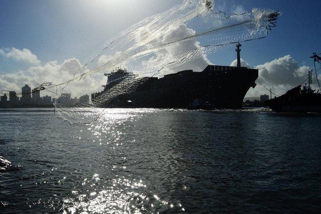 Navio no Porto de Itajaí