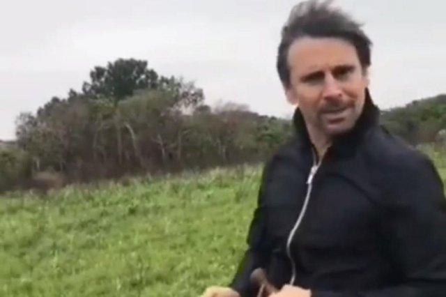 Murilo Rosa grava em São Francisco de Paula o filme A Cabeça de Gumercindo Saraiva, de Tabajara Ruas