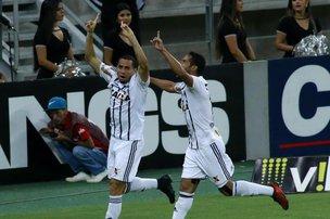 Jogador anotou dois gols para o Figueira, mas equipe catarinense amargou empate com tento nos acréscimos (Estadão Conteúdo/LC MOREIRA)