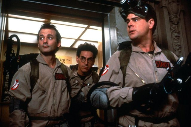 Ghost Busters (1984)Directed by Ivan ReitmanShown from left: Bill Murray (as Dr. Peter Venkman), Dan Aykroyd (as Dr. Raymond Stantz), Ernie Hudson (as Winston Zeddmore)
