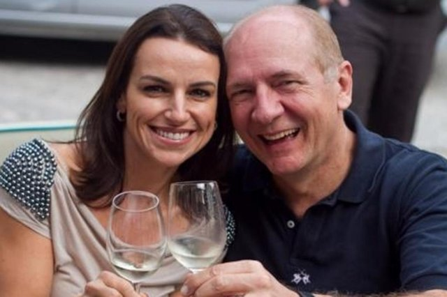 Paulo Bauer e a esposa Deborah, que esta semana comemoraram aniversário de casamento