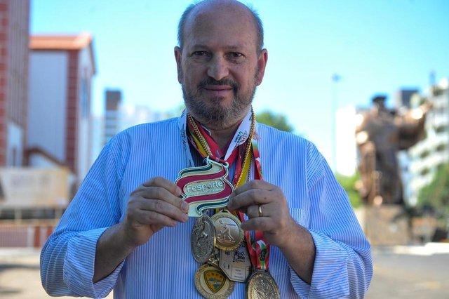 CHAPECÓ, SC, BRASIL 02.11.2017. CHIQUNHO. Atleta chapecoense com inúmeras conquistas na bocha. FOTO ANGÉLICA LÜERSEN, ESPECIAL, DIÁRIO CATARINENSE