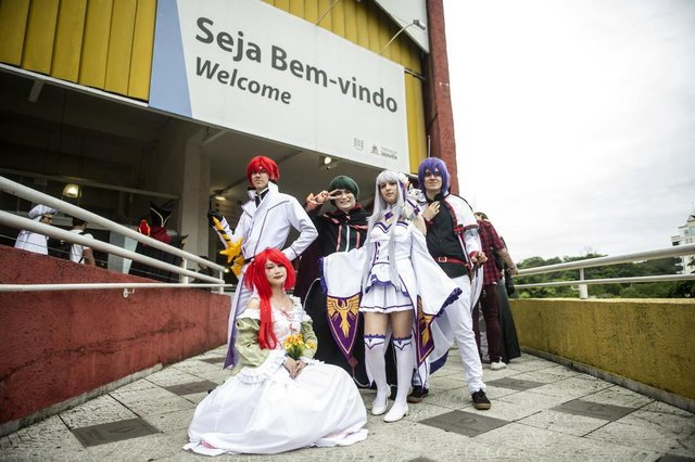 JOINVILLE, SC, BRASIL (05-11-2017) - Hanamachi 2017 reune cosplays no Centro de Eventos Cau Hansen em Joinville. (Foto: Maykon Lammerhirt, A Notícia)