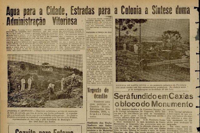 Inauguração da Av. São Leopoldo em 1952