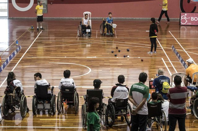 25/11/2016 - CT Paralímpico, São Paulo, SP - Paralimpíadas Escolares -  Tênis de mesa -.