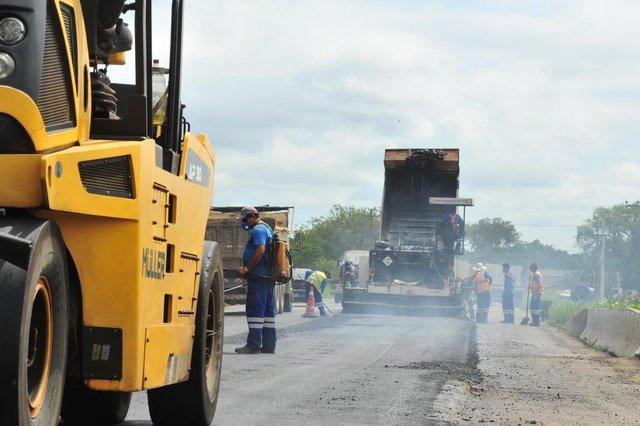 JOINVILLE,SC,BRASIL,27-11-2017.Obras na BR 280, deixam trânsito lento.(Foto:Salmo Duarte/A Notícia)
