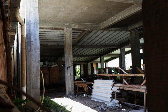 Santa Maria - RS - BRASIL 29/11/2017 vistoria da obra da Câmara de Vereadores