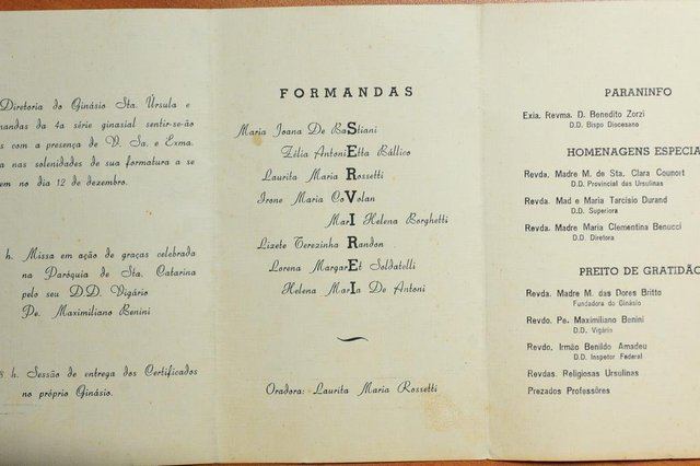 Formandas do 4ª Ginasial de 1959