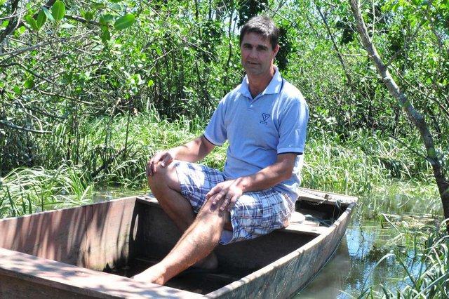 JOINVILLE,SC,BRASIL,28-11-2017.AN nos Bairros.AN visitou o bairro Boa Vista,Pedro Michels Heidemann,mora  de frente para o mangue.(Foto:Salmo Duarte/A Notícia)