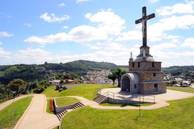 Monte Calvário, em São Marcos, está pronto para visitação.