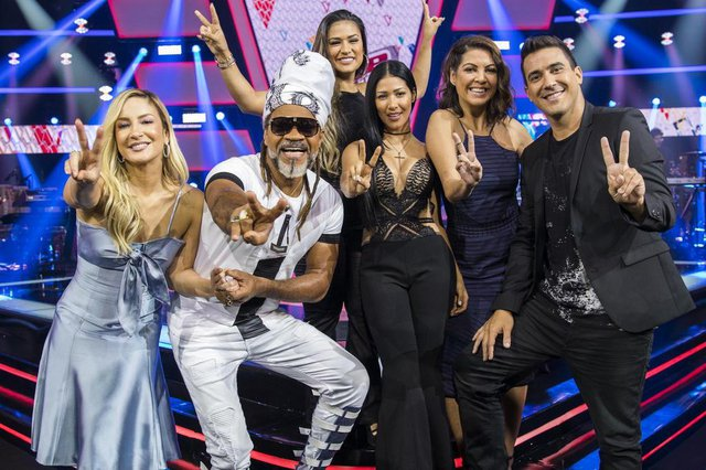 the voice kids, Carlinhos Brown, Claudia Leitte, Simone & Simaria, Thalita Rebouças e André Marques