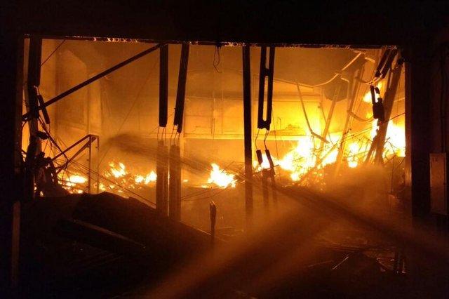 Incêndio atinge empresa têxtil em Guabiruba