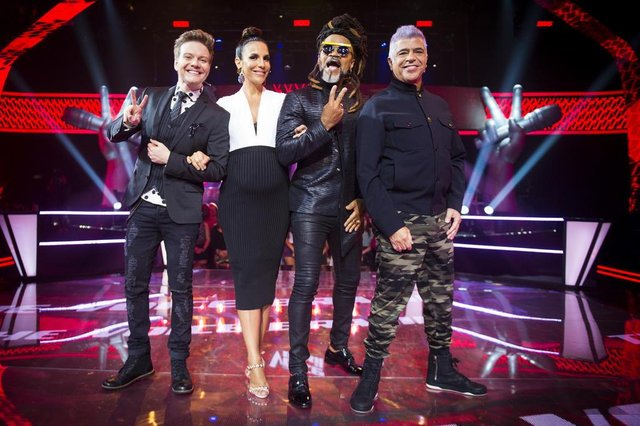 the voice brasil, Michel Teló, Ivete Sangalo, Carlinhos Brown e Lulu Santos