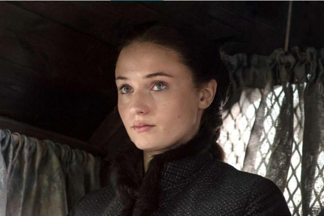 Atriz Sophie Turner interpreta Sansa Stark na série Game of Thrones