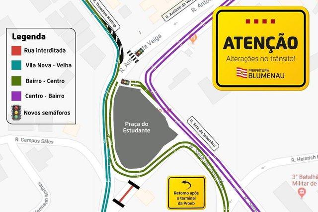 Obra na Humberto de Campos alterará trânsito na região do Parque Vila Germânica a partir de janeiro