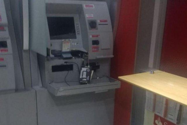 Arrombamento caixa eletrônico banco na Rua 2 de Setembro, em Blumenau