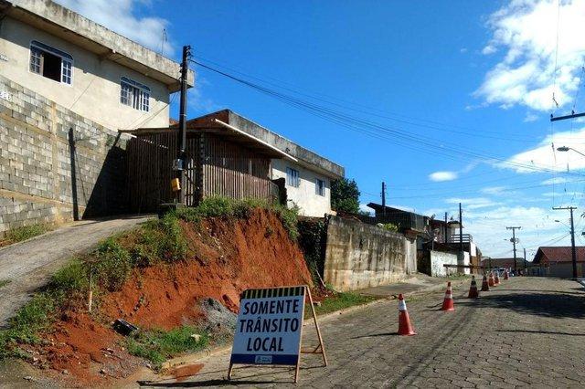 deslizamento de terra em Joinville