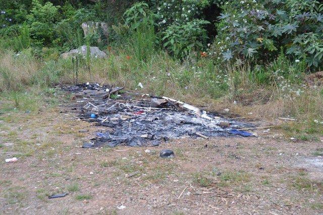 Índios colocaram fogo em alimentos e materiais doados em Flores da Cunha