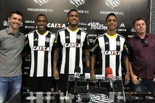 Samuel Santos, Nogueira e Amorim sonham alto pelo Alvinegro (Figueirense/Luiz Henrique)