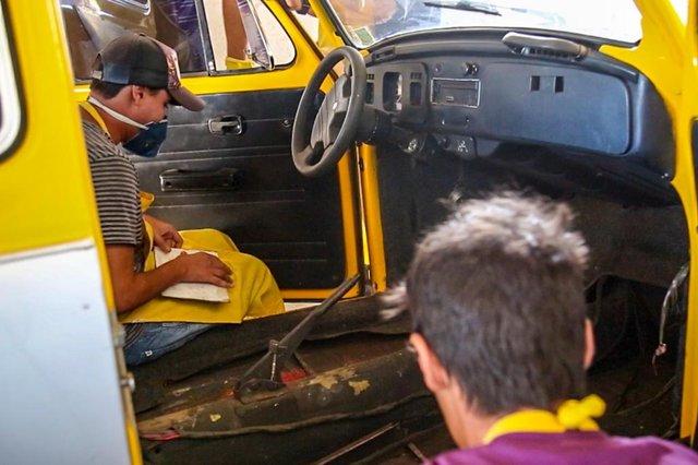 Projeto Economia Popular Solidária, criado pela prefeitura de Bagé - fotos gerais do curso de Pintura Automotiva.