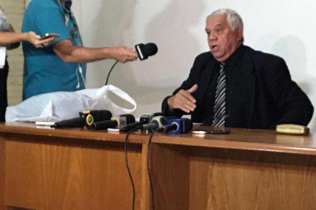 SÃO LEOPOLDO, RS, BRASIL, 08-01-2017. Coletiva de imprensa da polícia civil sobre o ritual satânico. (VANESSA KANNENBERG/AGÊNCIA RBS)