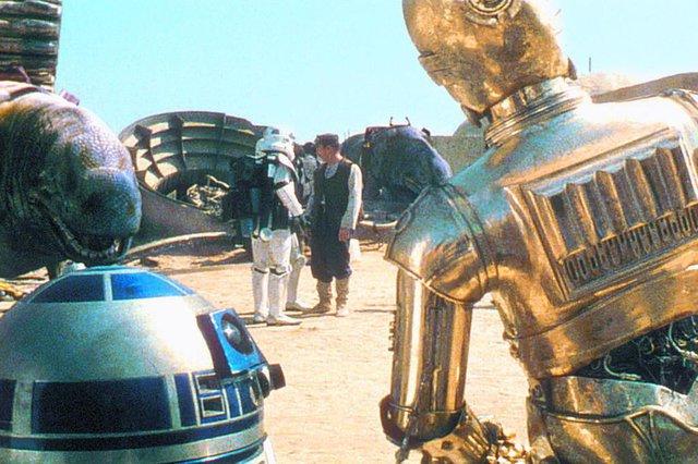 Reprodução de um slide da pasta n¼ 33798.Star Wars: a new hope (episódio IV), 1977Guerra nas Estrelas: uma nova esperança Fonte: Divulgação Fotógrafo: Lucas Film Ltd. Data Evento: 00/00/1977