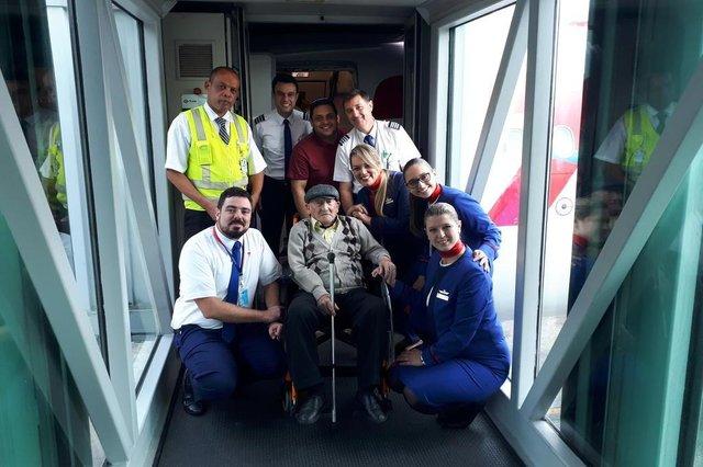 Otilho André Cheardozino, aniversário, 100 anos, voo, avião