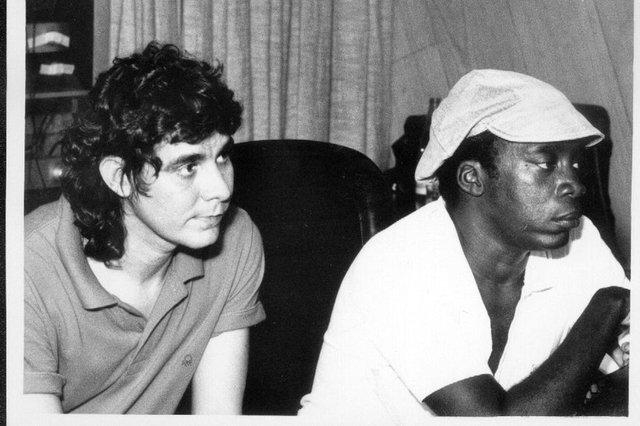 Lô Borges e Milton Nascimento no anos 1980