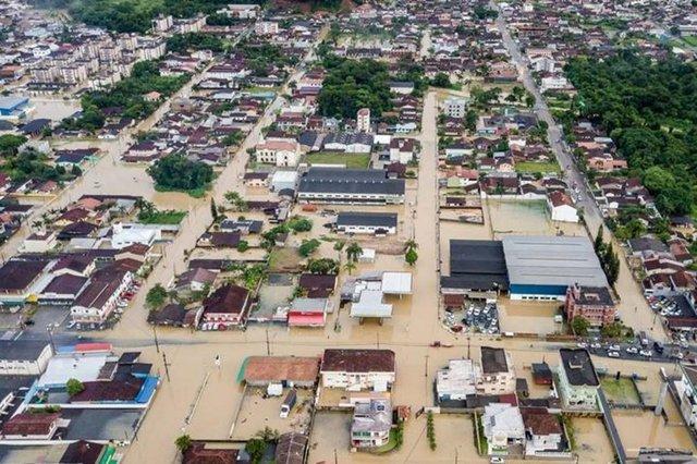 imagem de drone do Vila Nova
