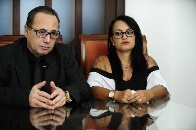 PORTO ALEGRE,RS,BRASIL.2018-02-08.Mestre espiritual Silvio Fernandes Rodrigues e sua esposa Aline Melo da Silva, falam sobre suas injustas prisões, e falsas acusações.(RONALDOBERNARDI/AGENCIA RBS).