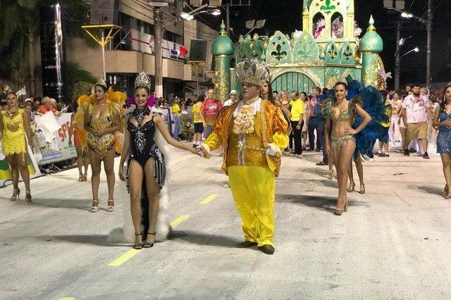 Corte do Carnaval em Joaçaba