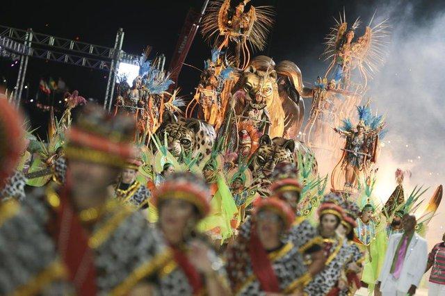 FLORIANOPOLIS, S, BRASIL, 2018: Carnaval 2018 - Dascuia (Foto: CRISTIANO ESTRELA / DIARIO CATARINENSE)