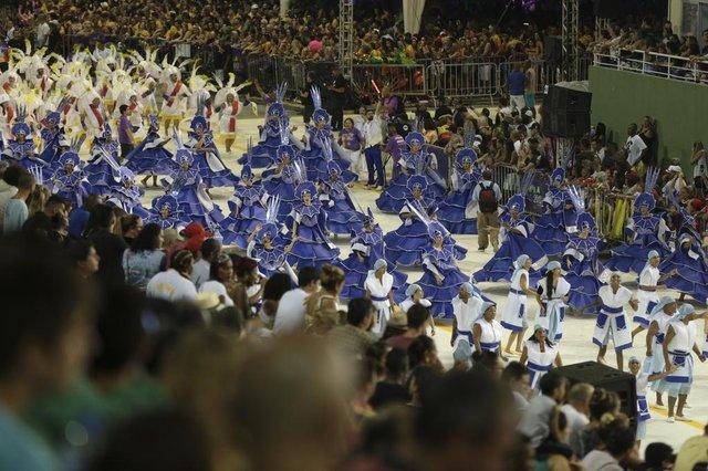 FLORIANOPOLIS, SC, BRASIL, 10/02/2018: Carnaval 2018 - Nação Guarani (Foto: CRISTIANO ESTRELA / DIARIO CATARINENSE)