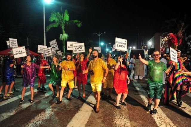 JOINVILLE,SC,BRASIL,10-02-2018.Desfile de Carnaval 2018,avenida Beira Rio.(Foto:Salmo Duarte/A Notícia)