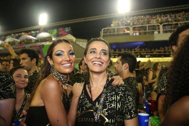 Primeiro dia de desfiles do Rio de Janeiro. Na foto, Patrícia Poeta e Carla Vilhena.Indexador: Picasa