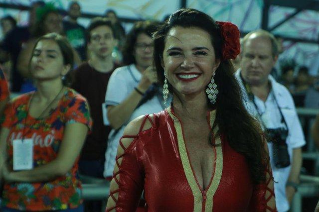 Musas da segunda noite de Carnaval do Rio 2018. Na foto, Luma de Oliveira