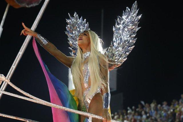 Musas da segunda noite de Carnaval do Rio 2018. Na foto, Pabllo Vittar.Indexador: Picasa