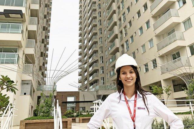 JOINVILLE,SC,BRASIL,16-02-2018.mulheres na construção civil,Marina Zanini,engenheira civil.(Foto:Rogga/Divugação)