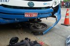 A vítima chegou a ser socorrida pelos outros motoristas, mas acabou morrendo no local (Divulgação/PMRv)