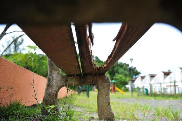 JOINVILLE,SC,BRASIL,19-02-2017.Condições das estruturas das praças públicas do município de Joinville.Parque da Cidade,rua XV de Novembro.(Foto:Salmo Duarte/A Notícia)